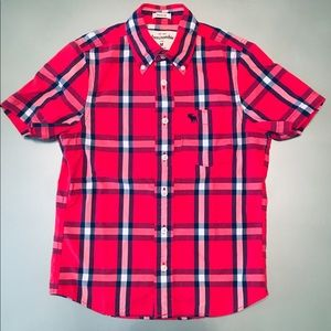 abercrombie kids SS Preppy Plaid Button Down Shirt
